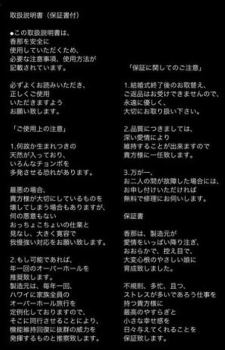田村淳 嫁 西村香那 画像 現在 馴れ初め 出会い 子供 年齢 復縁 性格 インスタ 手紙 取扱説明書