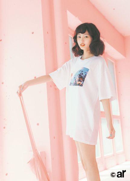 遠藤さくら スタイル 細い 全身 デニム 衣装 ファッション 雑誌 表紙 モデル 筋肉 足長い