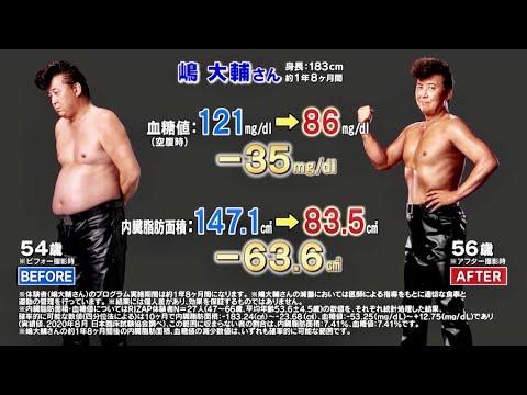 嶋大輔 現在 若い頃 男の勲章 横浜銀蝿 肥満 2型 糖尿病 ダイエット ライザップ RIZAP 成功 失敗 デブ