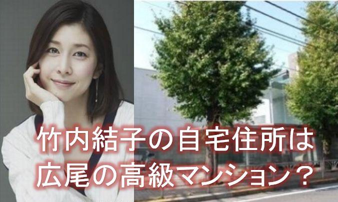 竹内結子 ガーデンパサージュ広尾