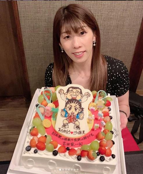 吉田沙保里 37歳 ケーキ インスタ
